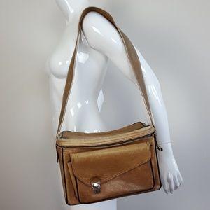 Vintage Brown Leather Camera Bag